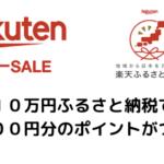 【10万納税で26000円分P還元】ふるさと納税は楽天スーパーセールが絶対お得